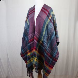 Jessica Simpson Maternity Plaid Poncho